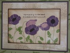 Purple Poppies by NaomiW - Cards and Paper Crafts at Splitcoaststampers