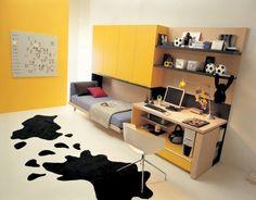 dormitorios de color amarillo