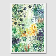 Roar + Rabbit Wall Art - Watercolor Scenes #westelm