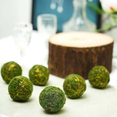 Pack of 6 Green Wedding Decorations, Unique Wedding Centerpieces, Table Decorations, Moss Centerpiece Wedding, Mosses Basket, Moss Plant, Decorating Supplies, Diy Decorating, Craft Accessories