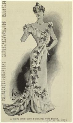 Evening gown, 1899 England, the Illustrated London News
