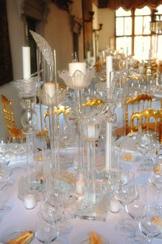 #vetro, #murano, #venice, #table, #light, #candle, #event, #gold, #wedding, #tablescape, #table setting Matteo Corvino Designer