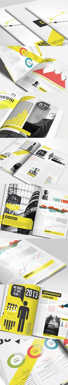 annual-report-brochure great brochures for graphic design inspiration