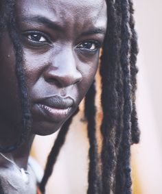 Michonne! Literally the best character on the show #TheWalkingDead