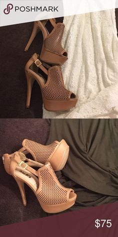 Leather size 6 heels New real leather. Never used. 🚫trades 🚫no offers Shoes Heels