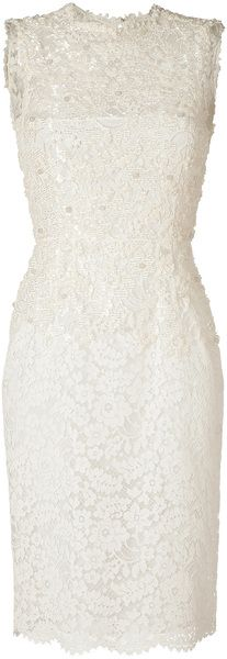 valentino  Ivory Cotton Lace Dress - Lyst  dressmesweetiedarling