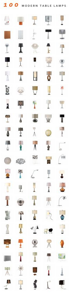 100 Modern Table Lamps
