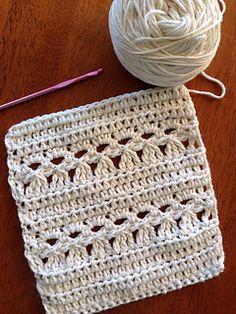 Ravelry: Pansy Stitch pattern by Rachel Counts Crochet Shell Stitch, Crochet Stitches, Knit Crochet, Colchas Quilt, Quilts, Stitch Patterns, Crochet Patterns, Crochet Dishcloths, Crochet Instructions