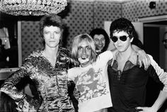 David Bowie, Iggy Pop e Lou Reed