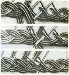 Поделка изделие Плетение Косичка из трех пар с тремя дополнительными трубочками; Бумага газетная фото 10: