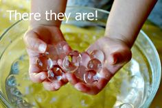 WATER MARBLES...super fun summer project for the kids ( parents too)! Project: No more I'm Bored