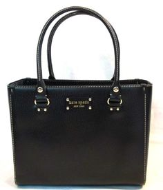 Kate Spade Wellesley Texture Leather Quinn Bag Purse Tote Black