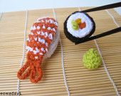 sashimi crochet play food catnip