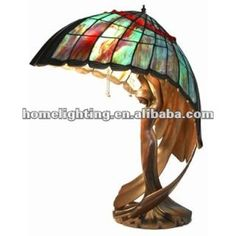 TFT-2867 China Tiffany Style Stained Glass Flying lady Pedestal Desktop table lamp