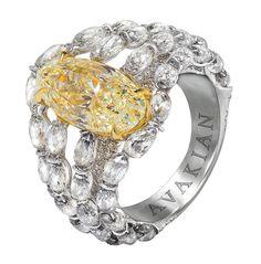 Avakian yellow diamond ring