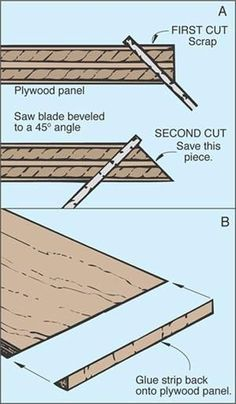 Hide edges in plywood and other materials