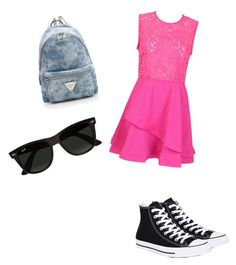 """Because am happy"" by alwmorgan on Polyvore featuring Converse and Ray-Ban"