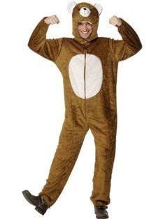 Unisex Adult Fancy Party Dress Wild Jungle Animal Jumpsuit Bear Costume Outfit - storage for kids Animal Costumes, Adult Costumes, Halloween Costumes, Teddy Bear Costume, Black Baby Dolls, Fancy Dress Accessories, Shirt Hair, Diy Sweatshirt, Fancy Dress Outfits