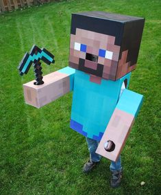 How to make a minecraft costume. My son would love this!