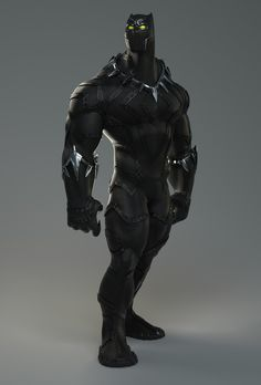Black Panther, yago de amorim on ArtStation at https://www.artstation.com/artwork/x2y2E