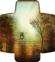 Bountiful Heirlooms: Free Printables: Bee and Beekeeping Tags briefumschlag Free Printables: Bee and Beekeeping Tags Éphémères Vintage, Vintage Ephemera, Vintage Paper, Vintage Crafts, Jewerly Box Diy, Bee Art, Wine Bottle Crafts, Planner, Printable Paper