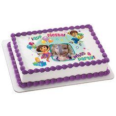 Dora The Explorer What A Party PhotoCakeR Frame Cake