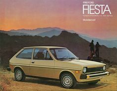 Ford Fiesta Ad #ford #fiesta #vintage #print #ad #advertisement #cars #auto…
