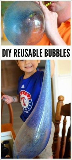 Craft Project Ideas: Play Recipe: Giant Reusable Bubbles