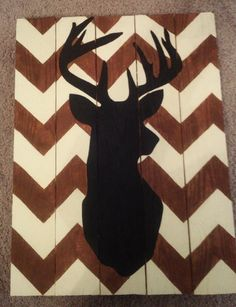 Chevron Deer Wall Decor by TinysDesigns on Etsy