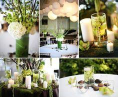 Des idées déco fleuries et fraiches pour habiller votre table vert anis ! #green #decoration #flowers