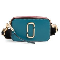 Women's Marc Jacobs Snapshot Crossbody Bag (€275) ❤ liked on Polyvore featuring bags, handbags, shoulder bags, pacific multi, blue crossbody, marc jacobs shoulder bag, marc jacobs, blue handbags and blue cross body purse