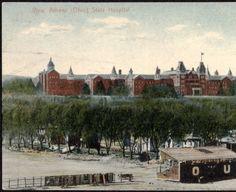 View, Athens (Ohio) State Hospital postcard