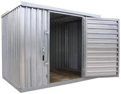 "Modular storage building are ideal for keeping valuable items secure. Constructed of maintenance free galvanized corrugated paneling. The door measures 45""W x 74""H usable and features a right-side hinged lock (padlock not included). Modular design is easy to assemble. Once assembled unit can be moved with a fork lift. Then Anchored Each unit features a wooden floor 5¾"" high to help keep products dry. Built-in rain gutters for water drainage is standard.  Free onsite layout assistance"