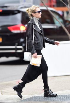 Emma Roberts is our weather-changing fashion back-up plan. Layering goals <3