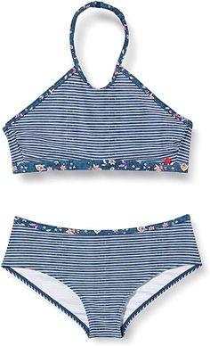 ESPRIT ESPRIT LONG BEACH YG neckholder+hipster short Bikini-Set, Mädchen, Blau 140/146 Bikinis: Amazon.de: Bekleidung Long Beach, Hipster, Bikini Set, Swimwear, Fashion, Shopping, Clothing, Blue, Bathing Suits