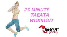 This workout features five 4 minute tabata rounds (20 seconds work, 10 seconds rest) with a minute in between. High Intensity Interval training with options ...