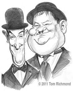 Stan and Ollie! © 2011 Tom Richmond. - Classics