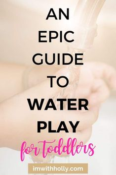 Water Play at Home for Toddlers: An Epic Guide to Toddler Entertainment Sensory Activities, Hands On Activities, Toddler Activities, What Is Water, Ocean Pollution, Toddler Development, Water Play, Early Childhood Education, Fine Motor Skills