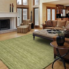 Kaleen 4500-33 Renaissance Area Rug, Celery - Floors and Surfaces