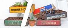 Nothing makes seasonal decorating easier than vintage wooden crates. In fact, decorating in general is easy with vintage crates. They make excellent storage, Small Wooden Crates, Vintage Wooden Crates, Wood Crates, Shipping Crates, Crate Furniture, Shabby Chic Style, Seasonal Decor, Vibrant Colors, Free