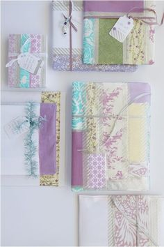 Patterned pastel gift wrap.