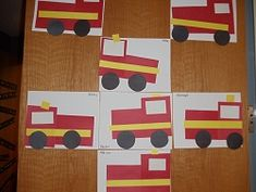Community helpers- cute was to make fire trucks and review shapes