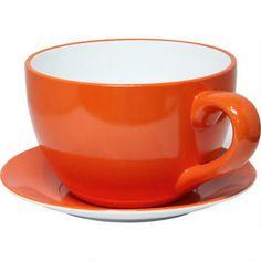 Teacup Planter - Orange