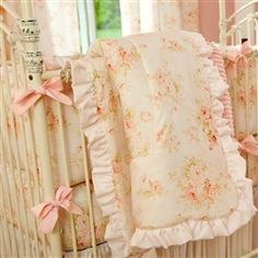Shabby Chenille Crib Comforter with Ruffle 250x250 image
