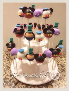 SweetSoleil's mickey mouse clubhouse Cakepops