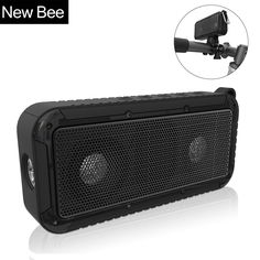New Bee Outdoor Portable Waterproof Wireless Bluetooth Speaker Bike Soundbar with Microphone NFC Bicycle Mount LED Flashlight Price: USD 45.99   United States