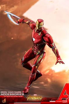 e89107608a54 Hot Toys 1 6th scale Iron Man Mark L Accessories Collectible Set  Avengers   Infinity War