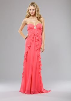 Strapless dress featuring a pleated sweetheart bodice