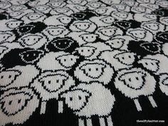 Ravelry: Counting Sheep Blanket pattern by Lisa Hannan Fox Double Knitting Patterns, Fair Isle Knitting Patterns, Fair Isle Pattern, Knitting Charts, Knitting Designs, Knitting Projects, Hand Knitting, Crochet Patterns, Knitting Tutorials