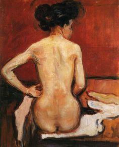 Edward Munch, Desnudo (1896) ______________________________ ♥♥♥ deniseweb.free.fr ♥♥♥